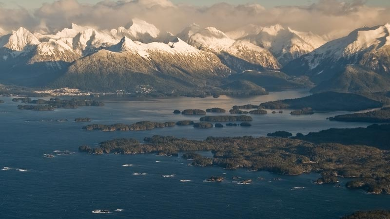 Flying above Sitka Sound